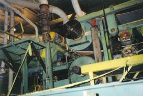 Paper Machine Roller Repair | BEFORE